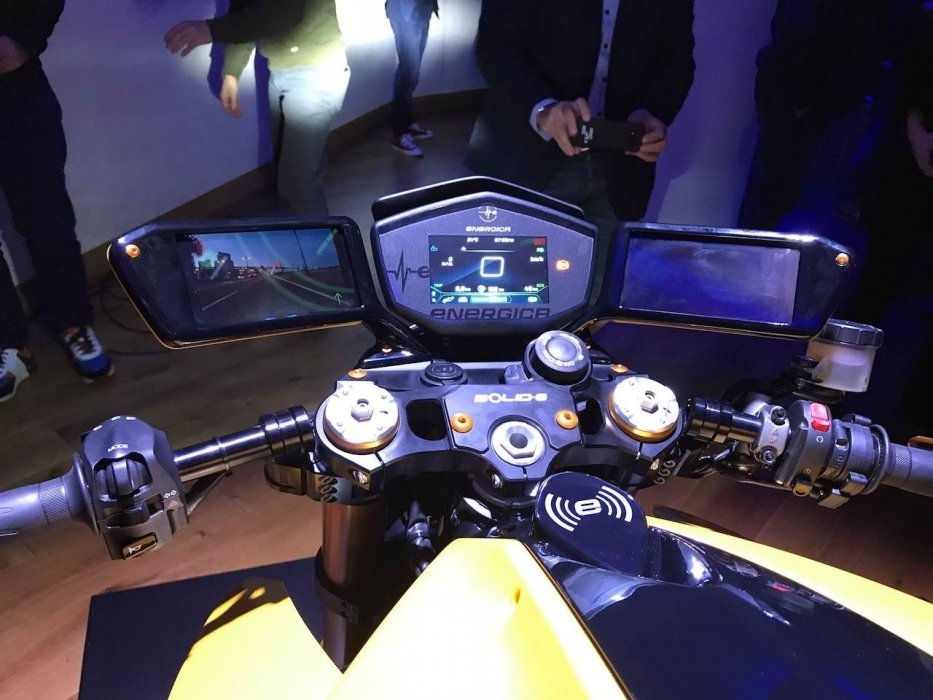 Energica Samsung Bolid-E Heads Up display