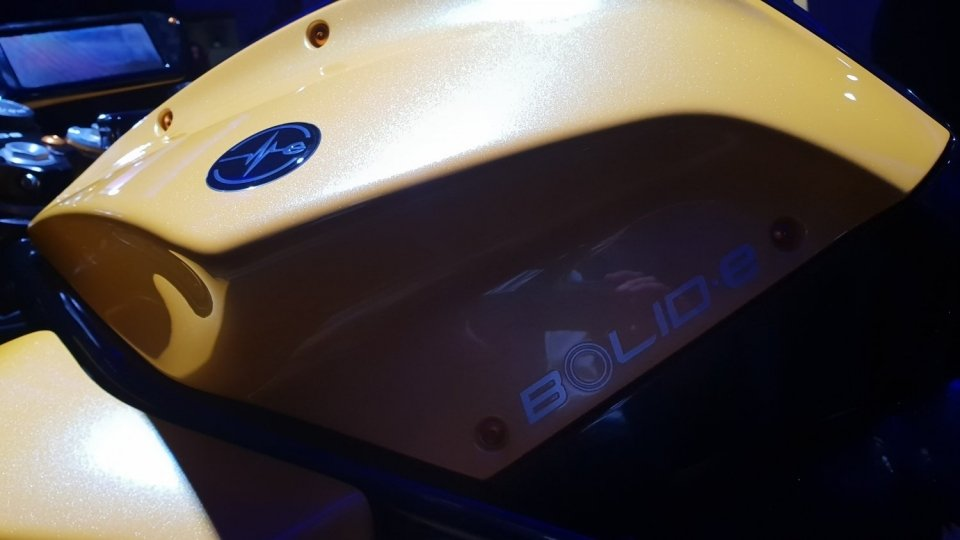 Energica Samsung Bolid-E Logo on left Side